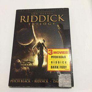 3 Movie!Riddick Trilogy DVD Vin Diesel-Pitch Black